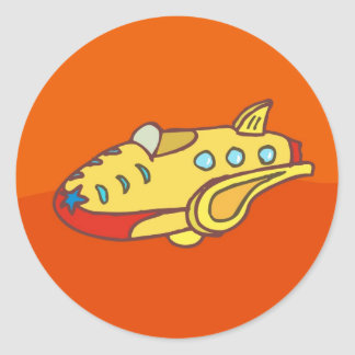 NOVINO Super Jet Classic Round Sticker