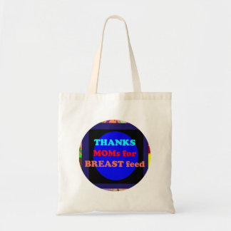 NOVINO Thanks Mom for Breast Feed Canvas Bags