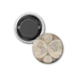 Novissima Totius Terrarum Orbis Tabula Map 1 Inch Round Magnet