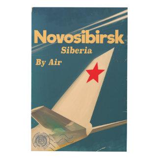 Novosibirsk Siberia soviet union flight poster