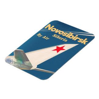 Novosibirsk Siberia soviet union flight poster Magnet
