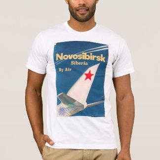 Novosibirsk Siberia soviet union flight poster T-Shirt