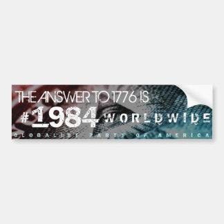 Novus Ordo Seclorum New World Order Bumper Sticker