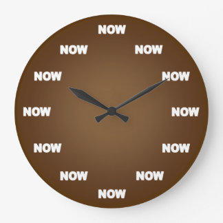 Now Clock (Brown)
