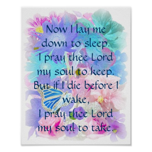 Quot Now I Lay Me Down To Sleep Quot Art Print Zazzle Ca