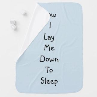 Now I Lay Me Down To Sleep Baby Blanket