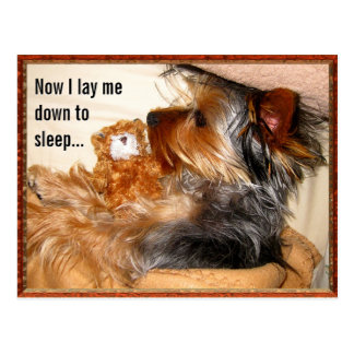 Now I lay me down to sleep Customizable Postcard