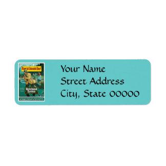 Now is Colorado Time! Vintage Travel Advertisement Return Address Label