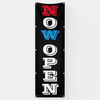 Now Open Vertical 8 Foot Banner