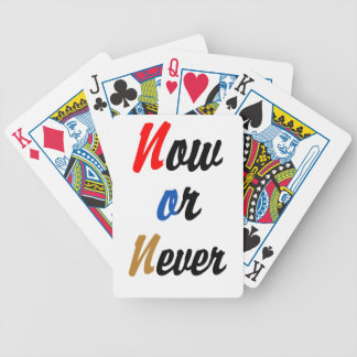 Now or Never Bicycle Playing Cards