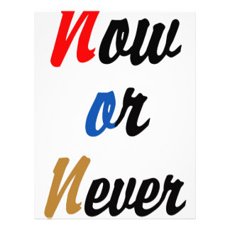 Now or Never Letterhead