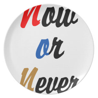 Now or Never Party Plates