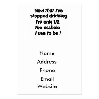 Now that I've stopped drinking-business cards Pack Of Chubby Business Cards