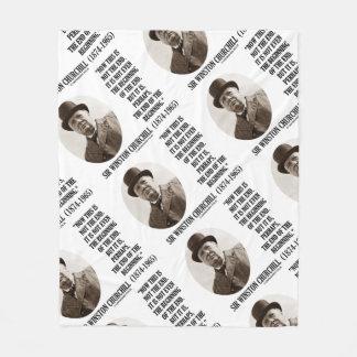 Now This Not The End Beginning Winston Churchill Fleece Blanket