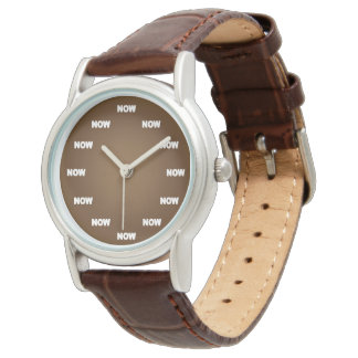 """""""NOW"""" Watch (Brown)"""