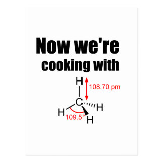 Now We're Cooking With Gas! Postcard