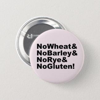 NoWheat&NoBarley&NoRye&NoGluten! (blk) 2 Inch Round Button
