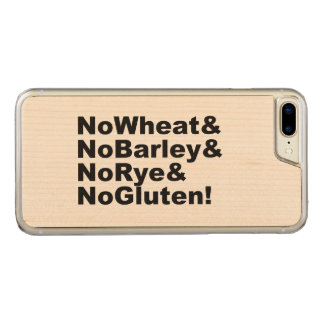 NoWheat&NoBarley&NoRye&NoGluten! (blk) Carved iPhone 8 Plus/7 Plus Case