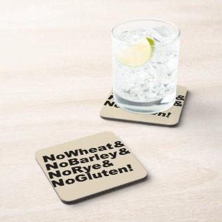 NoWheat&NoBarley&NoRye&NoGluten! (blk) Coaster