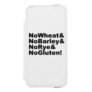 NoWheat&NoBarley&NoRye&NoGluten! (blk) Incipio Watson™ iPhone 5 Wallet Case