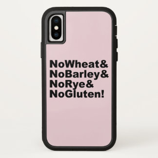 NoWheat&NoBarley&NoRye&NoGluten! (blk) iPhone X Case