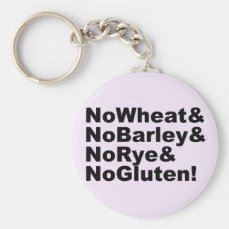 NoWheat&NoBarley&NoRye&NoGluten! (blk) Keychain