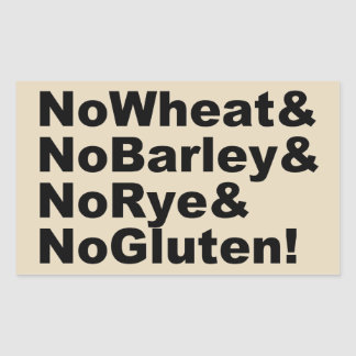 NoWheat&NoBarley&NoRye&NoGluten! (blk) Sticker