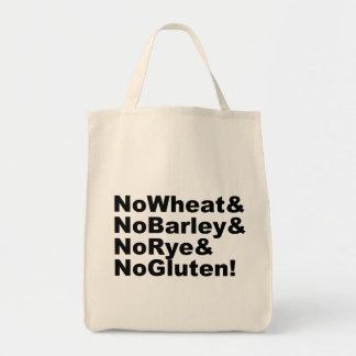 NoWheat&NoBarley&NoRye&NoGluten! (blk) Tote Bag