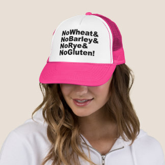 NoWheat&NoBarley&NoRye&NoGluten! (blk) Trucker Hat