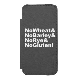 NoWheat&NoBarley&NoRye&NoGluten! (wht) Incipio Watson™ iPhone 5 Wallet Case