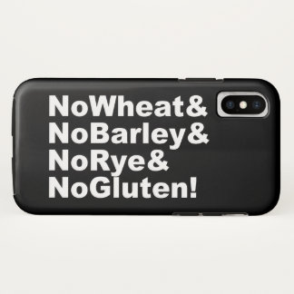 NoWheat&NoBarley&NoRye&NoGluten! (wht) iPhone X Case