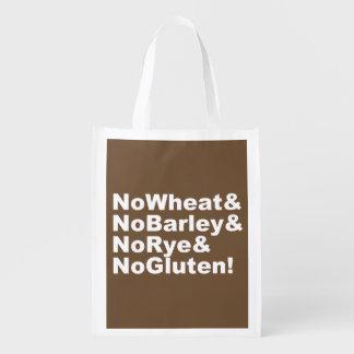 NoWheat&NoBarley&NoRye&NoGluten! (wht) Reusable Grocery Bag