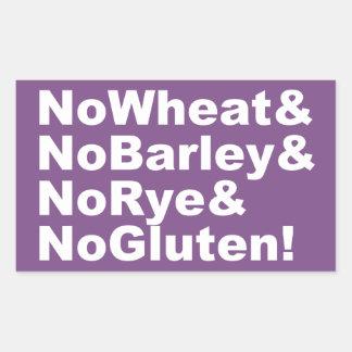 NoWheat&NoBarley&NoRye&NoGluten! (wht) Sticker