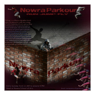 Nowra Parkour Poster