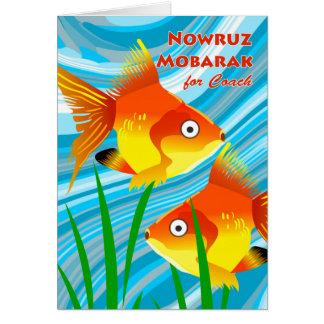 Nowruz Mobarak, Persian New Year for Coach, Fish Card