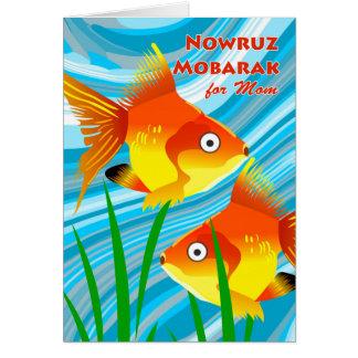 Nowruz Mobarak, Persian New Year for Mom, Goldfish Card