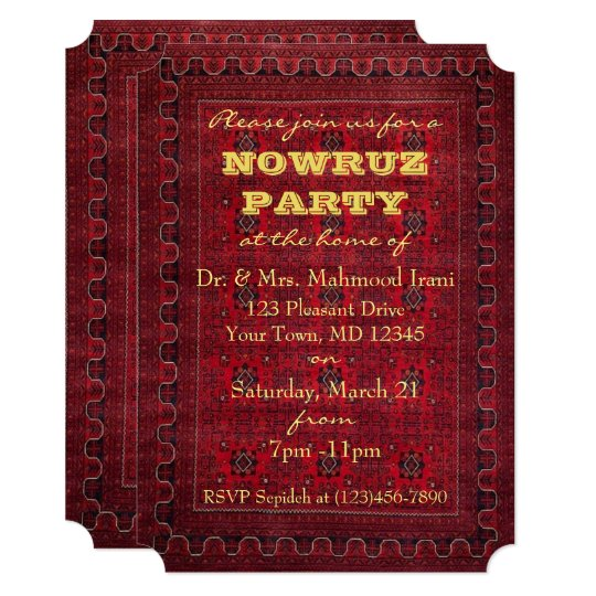 Nowruz Party Invitation