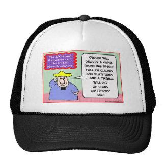 nowstradamus congress chris matthews leg obama trucker hats