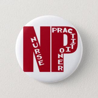 NP Big Red NURSE PRACTITIONER 2 Inch Round Button