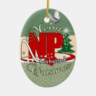 NP CHRISTMAS Nurse Practitioner Ceramic Ornament