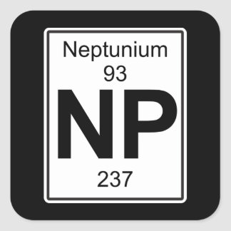 Np - Neptunium Square Sticker