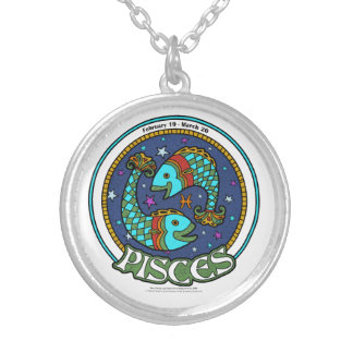 NP Pisces Medium Silver Plated Round Necklace