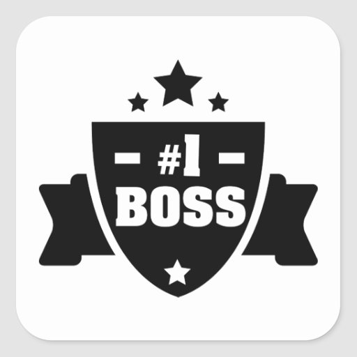 Nr 1 Boss Square Stickers