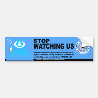 NSA Domestic Spying Bumper Sticker