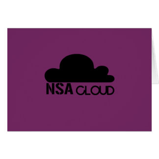 NSA in the Cloud Greeting Cards