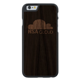 NSA in the Cloud Carved® Walnut iPhone 6 Case
