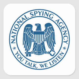 NSA: National Spying Agency Square Sticker