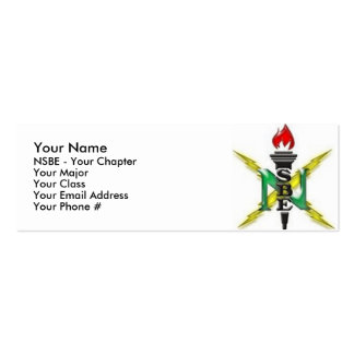 NSBE National Convention Profile Card Mini Business Card