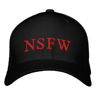 NSFW Red blk HOT CUSTOMIZE IT Embroidered Hat