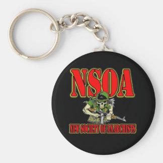 NSOA Army Skull logo Keychain